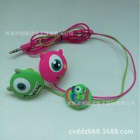 耳机厂家供应卡通耳机 动漫公仔耳机 PVC滴胶3D立体耳机