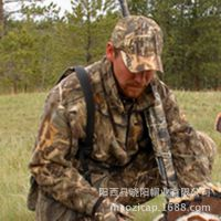 供应美国MOSSY OAK仿生迷彩帽 户外士兵狩猎遮阳帽 丛林迷彩棒球帽