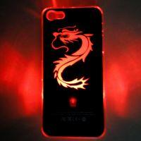 新款带开关iPhone 4/4S手机来电闪 七彩LED CASE 闪光壳 一件代发