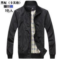外贸EABY速卖通批发 男装薄棉修身百搭立领夹克韩版外套 j512