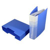 得力5200-A4/100页资料册文件册100%进口环保PP材料大容量档案册