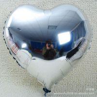 婚礼布置/生日派对庆典装饰气球 心形铝箔气球10寸银色