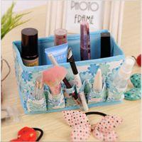 创意可折叠化妆品无纺布收纳盒 桌面首饰小物多功能收纳盒 批发
