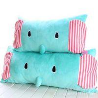 大象可爱卡通情侣双人枕头 超长抱枕靠背 可拆洗