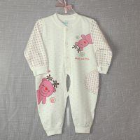 婴幼儿连身衣 全开扣纯棉宝宝爬行服 春秋款儿童连体哈衣