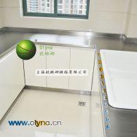 U字型简约不锈钢橱柜 白色烤漆橱柜 不锈钢台面