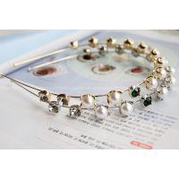 来自星星的你全智贤同款发饰韩国正品珍珠绿钻发带发箍