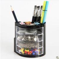 正品 得力9133笔筒 多功能笔筒 创意笔筒 塑料笔筒 办公用品批发