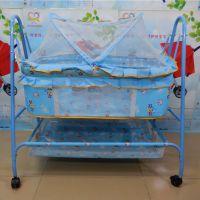贺联263新生儿婴儿床品BB摇摇床儿童铁床摇篮床童床小孩宝宝摇床