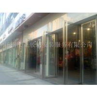 扬州市三盛国际广场商铺有框无框12MM厚钢化玻璃门定做安装13773525800质量保证