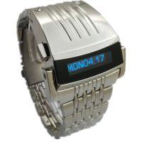 代发LED钢铁侠手表混批钢带腕表男士液晶OLED手表批发