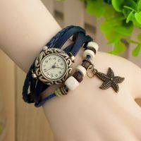 欧美韩版时尚复古手链表 编制手链表 海星挂件手链表 现货供应