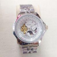 高档品牌瑞士机械手表 男士大表盘计时器 陀飞轮多功能月相男腕表