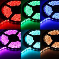 12V高亮5050滴胶防水60灯红绿蓝单色软灯带 灯条,低价销售跑量