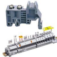 供应UK接线端子排导轨卡固件两边堵头 接线端子排固定件