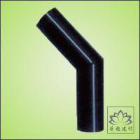 厂家批发锋牌国标环保HDPE给水管材45度焊接弯头排水管件民用家装
