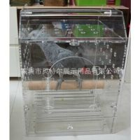 供应新款透明亚克力八哥/鹦鹉笼 压克力相思鸟笼 通用鸟笼大号鸟箱