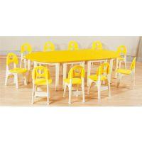 幼儿园实木桌椅订做|幼儿园实木桌椅|太阳幼教