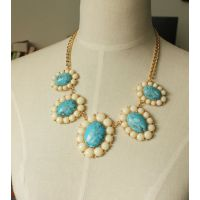 【厂家生产加工】 天然宝石饰品 绿松石饰品项链