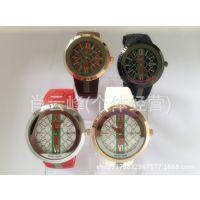 2014新款超低价 速卖通爆款 gu手表经典款带日历手表 现货批发