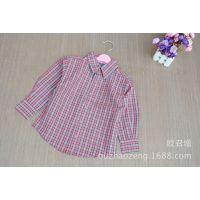 2014新款春季儿童长袖衬衫 外贸童衬衫 童衬衫批发 儿童衬衫批发