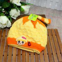 2014冬季新款儿童毛线帽子 韩版加绒 宝宝套头帽