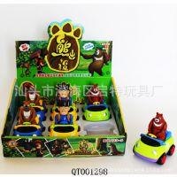 熊出没卡通惯性动物车EN71证书 新款儿童耐摔玩具车 厂家直销热卖