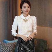 2014秋装新款 韩版 修身衬衫雪纺衫上衣大码打底衫 女