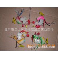 厂家直销塑料工艺品  地摊庙会热卖 弹簧动物  仿真动物  五尾鸡