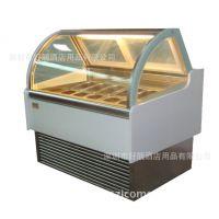 豪华型冰淇淋展示柜6~16盘(配1/4份数盘)低温冷冻柜 进口压缩机