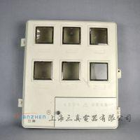 玻璃钢电表箱 单相电表箱 电子插卡电表箱 DBX双开门电表箱 6户