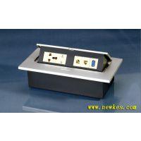多功能桌面插座线盒 弹起式桌面电源插座 科桌会议台台面信息盒