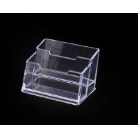 名片盒 透明名片盒 两格名片座 广告名片盒