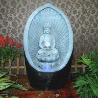 供应创意佛像摆件假山鱼缸喷泉流水摆件陶瓷盆景轴承客厅,阳台,书房等摆设