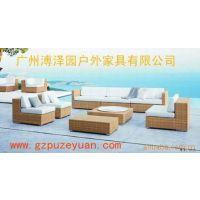 供应订做时尚编藤休闲沙发 编藤桌椅 藤椅 沙发椅 茶几 休闲桌椅组合