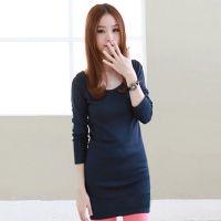 2014韩版时尚秋装 外贸原单修身圆领女式t恤 秋季女装打底衫nx888