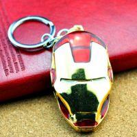 速卖通热销 Iron Man钢铁侠金色面具钥匙扣 钢铁侠钥匙链WK814