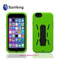 iPhone6支架手机壳 硅胶机器人保护套批发厂家直销 三合一系列