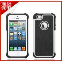 iPhone5硅胶三合一防摔手机套 苹果5pc足球纹环保手机壳