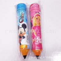 hellokitty迪士尼卡通笔形笔筒笔袋 圆筒拉链笔袋小号 学生赠品