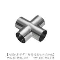 广州方联供应不锈钢焊接四通 304卫生级管件