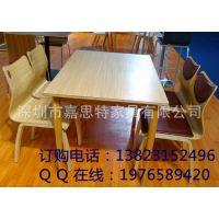 厂家定做饭店餐厅桌椅 防火板四人位餐桌 家用餐桌椅组合