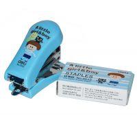 得力办公用品0352标准订书机 卡通迷你型订书机套装 3色选 送书针