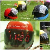 Helmet Clock赛车帽感应闹钟 创意桌面电子时钟 安全帽造型钟