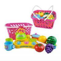 儿童手工玩具 仿真过家家益智 水果切切看 蔬菜篮 宝宝益智批发