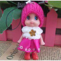 8cm金丝毛绒娃娃 创意小礼品 爆款公仔 迷糊娃娃挂件