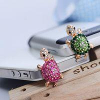韩版镶钻可爱小乌龟苹果手机防尘塞三星 小米3.5mm通用款耳机塞62