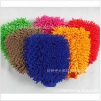 雪尼尔擦车手套 GK-13# 清洁手套批发 大号防水 擦车手套