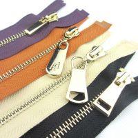 【双菱拉链】厂家直销5#金属浅金门襟箱包拉链根据客户需求定做