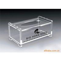 亚克力抽纸盒 亚克力收纳盒 有机高档透明星级酒店纸巾盒 卷纸盒